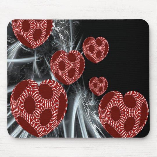 Floating Fantasy Fractal Art Hearts Mousepad
