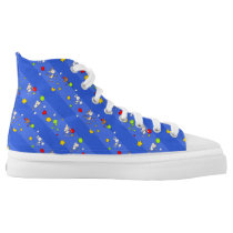 Floating Farm Animals-Repeated High-Top Sneakers