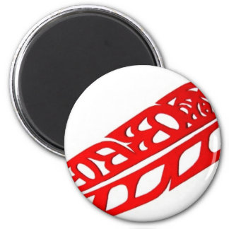 Floating Feather 2 Inch Round Magnet