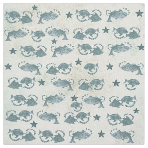 Floating fish pattern craft fabric zazzle for Fish pattern fabric