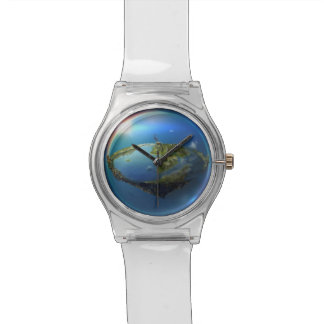 Floating Flat Earth Fantasy Watch