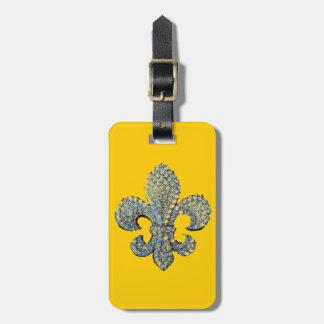 Floating Fleur de Lis print Luggage Tag