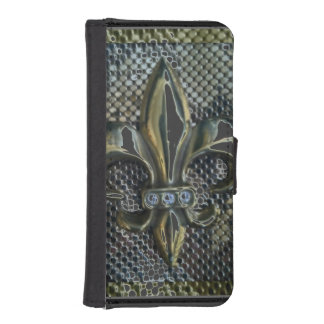 Floating Fleur de Lis Print iPhone 5 Wallet Cases