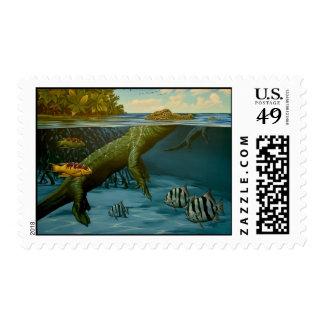 Floating, Florida Bay Stamp
