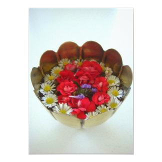 Floating Flower Arrangement Card