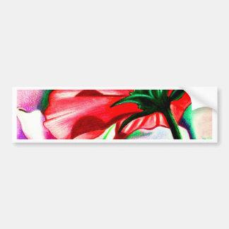 Floating Flower Fantasy Car Bumper Sticker