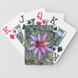 Floating Flower Poker Cards
