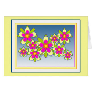 Floating Flowers 1 - Customized Card