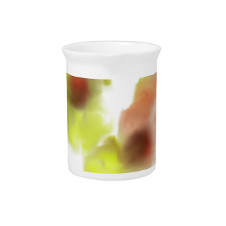 Floating Flowers Design Beverage Pitcher