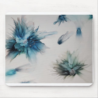 Floating flowers mouse pad
