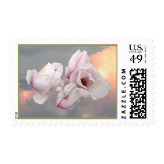 FLOATING FLOWERS POSTAGE STAMPS