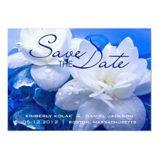 Floating Flowers • Save the Date Card
