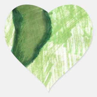 Floating Form Green Heart Sticker