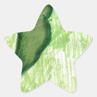 Floating Form Green Star Sticker