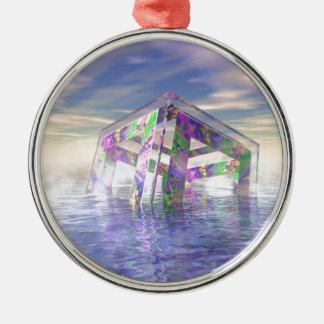Floating Fractal Metal Ornament