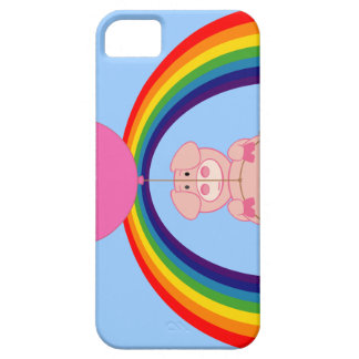 Floating Fying Pig Over the Rainbow iPhone 5 Cover