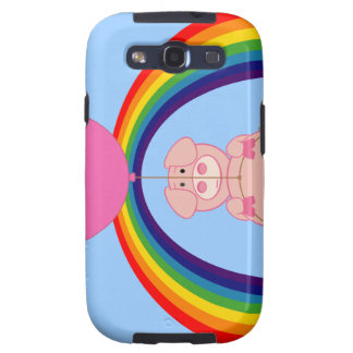 Floating Fying Pig Over the Rainbow Galaxy S3 Covers