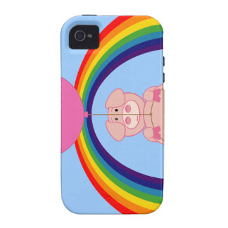 Floating Fying Pig Over the Rainbow Vibe iPhone 4 Case