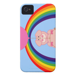 Floating Fying Pig Over the Rainbow iPhone 4 Case-Mate Case