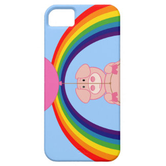 Floating Fying Pig Over the Rainbow iPhone 5 Covers