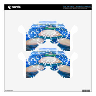 Floating Giant Fat Woman in her favorite Green Bik PS3 Controller Decal
