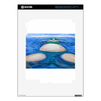 Floating Giant Fat Woman in her favorite Green Bik Decal For iPad 3