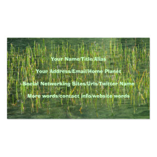Floating Grasses Business Card