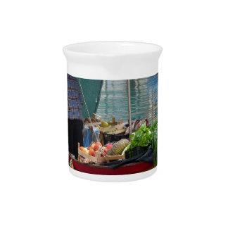 Floating greengrocer at venice beverage pitcher