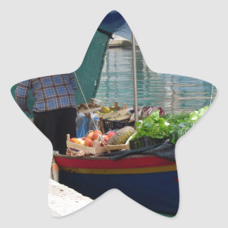 Floating greengrocer at venice star sticker