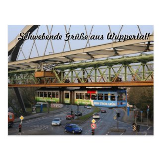 Floating Greetings from Wuppertal in German Postcard