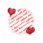 Floating Heart Balloons Photo Frame Cut Out