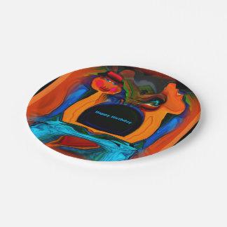 Floating heart Birthday plates