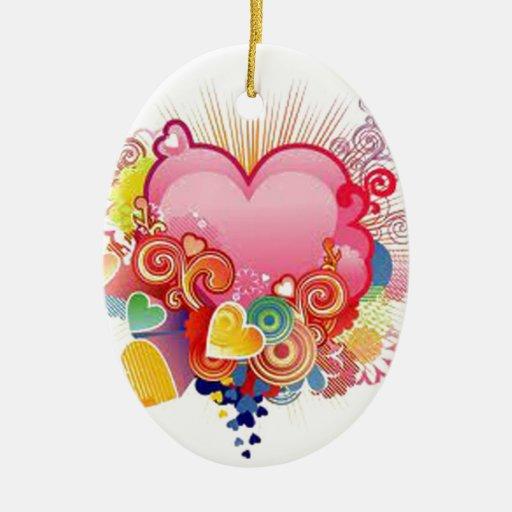 Floating heart christmas ornaments zazzle