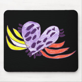 Floating Heart Mouse Pad