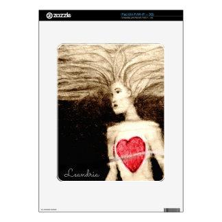 FLOATING HEARTlargefile Decal For iPad