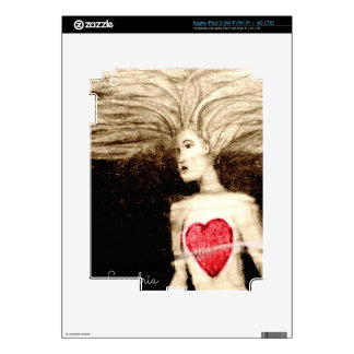 FLOATING HEARTlargefile iPad 3 Decal