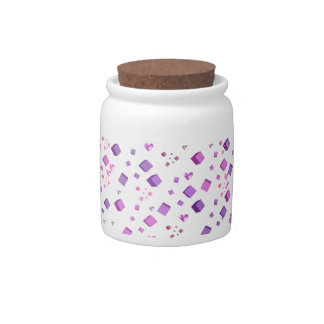 Floating Hearts and Cubes Candy Jar