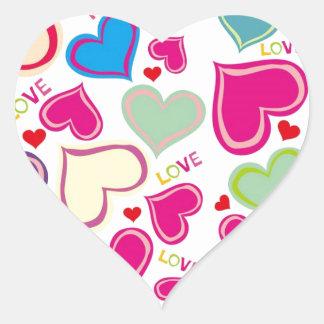 Floating Hearts Heart Sticker