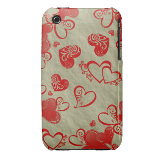 Floating Hearts iPhone Barely There Case iPhone 3 Case-Mate Case