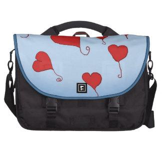 Floating Hearts Messenger Bag Laptop Messenger Bag