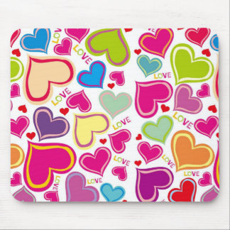 Floating Hearts Mouse Pad
