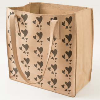 Floating Hearts of Graduating Sizes Patterned Tote