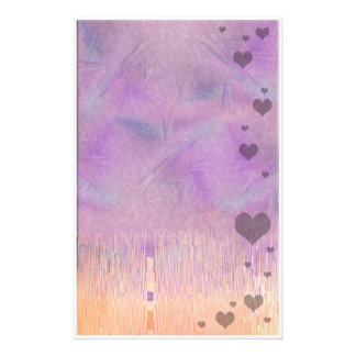 floating hearts personalized stationery