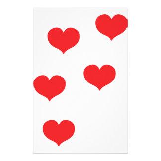floating hearts custom stationery