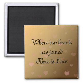 Floating Hearts With Love Saying Magnet