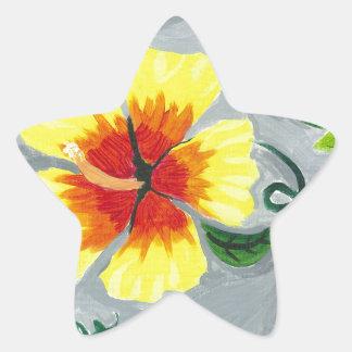 Floating Hibiscus Star Sticker