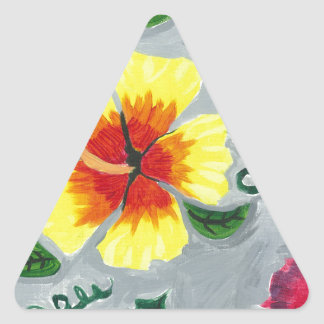 Floating Hibiscus Triangle Sticker