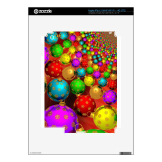 Floating Holiday Ornaments Skins For iPad 3