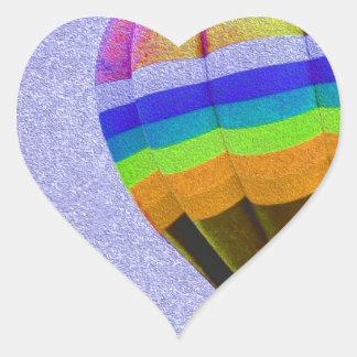 Floating Hot Air Balloon. Heart Sticker