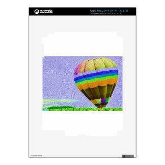 Floating Hot Air Balloon. iPad 3 Decals